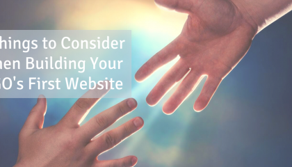 what to consider when building your ngos first website